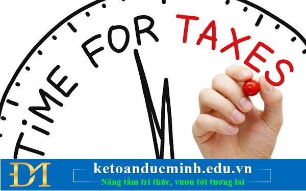 Thời điểm xác định thuế GTGT - Kế toán Đức Minh