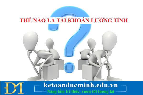 Thế nào là tài khoản kế toán lưỡng tính? Các tài khoản kế toán lưỡng tính