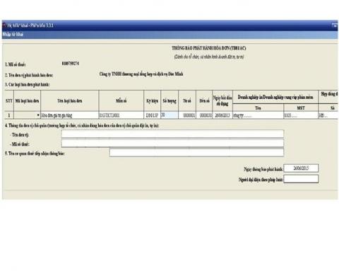 Hướng dẫn thủ tục thông báo phát hành hóa đơn GTGT đặt in theo thông tư 39/2014/TT-BTC