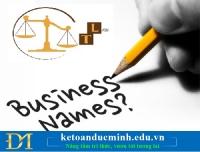 Hướng dẫn cách đặt tên doanh nghiệp theo quy định mới nhất – Kế toán Đức Minh.