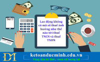 Lao động không có mã số thuế ảnh hưởng như thế nào tới thuế TNCN và thuế TNDN - Kế toán Đức Minh.