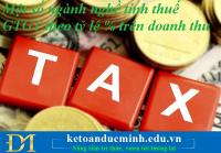 Một số ngành nghề tính thuế GTGT theo tỷ lệ % trên doanh thu – Kế toán Đức Minh