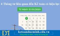 4 Thông tư liên quan đến Kế toán có hiệu lực từ 01/01/2020 – Kế toán Đức Minh