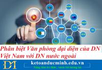 Phân biệt Văn phòng đại diện của doanh nghiệp Việt Nam với doanh nghiệp nước ngoài – Kế toán Đức Minh