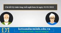 Chi tiết lộ trình tăng tuổi nghỉ hưu từ ngày 01/01/2021- KTĐM