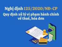 Nghị Định số 125/2020/NĐ-CP: Quy định về xử lý vi phạm hành chính lĩnh vực thuế, hóa đơn