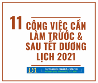 NHỮNG CÔNG VIỆC KẾ TOÁN CẦN LÀM TRƯỚC VÀ SAU TẾT DƯƠNG 2021 - Kế toán Đức Minh