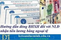Hướng dẫn đóng BHXH đối với NLĐ nhận tiền lương bằng ngoại tệ - Kế toán Đức Minh.