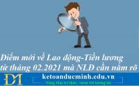 Hàng loạt điểm mới về Lao động - Tiền lương từ tháng 2 năm 2021 mà người lao động nắm rõ – Kế toán Đức Minh.