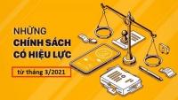 Những chính sách mới có hiệu lực bắt đầu từ tháng 3 - 2021 kế toán Đức Minh