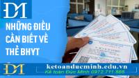 Thẻ bảo hiểm y tế: 9 quy định cần biết khi sử dụng - Kế Toán Đức Minh