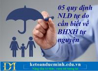 05 quy định NLĐ tự do cần biết về BHXH tự nguyện – Kế toán Đức Minh.
