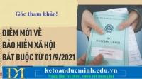 9 điểm mới về bảo hiểm xã hội bắt buộc áp dụng từ 01/9/2021-kế toán Đức Minh