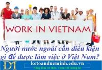 Người nước ngoài cần điều kiện gì để được làm việc ở Việt Nam? Kế toán Đức Minh.