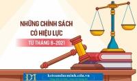 Chính sách mới về thuế có hiệu lực từ tháng 8/2021 - kế toán Đức Minh