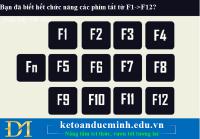 Bạn đã biết hết chức năng các phím tắt từ F1->F12 trên bàn phím máy tính chưa?