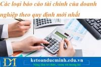 Các loại báo cáo tài chính của doanh nghiệp theo quy định mới nhất