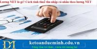 Lương NET là gì?Cách tính thuế thu nhập cá nhân theo lương NET
