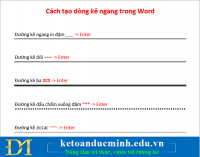 2 cách tạo dòng kẻ ngang cực nhanh trong WORD – Kế toán Đức Minh