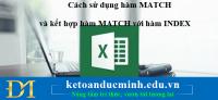 Cách sử dụng hàm MATCH và kết hợp hàm MATCH với hàm INDEX