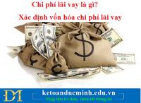 Chi phí lãi vay là gì? Xác định vốn hóa chi phí lãi vay - KTĐM