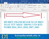 Hô biến thanh Ruler xuất hiện ngay tức khắc trong văn bản Word 2016, 2013, 2010, 2007, 2003