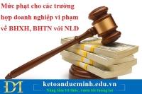 Mức phạt cho các trường hợp doanh nghiệp vi phạm về BHXH, BHTN với NLĐ