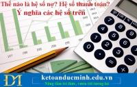 Thế nào là hệ số nợ? Hệ số thanh toán? Ý nghĩa các hệ số trên – Kế toán Đức Minh