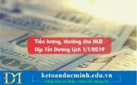 Tiền lương, thưởng Tết Dương lịch 2019- Kế toán Đức Minh
