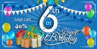 Mừng sinh nhật 6 năm khuyến mại giảm đến 40% học phí các khóa kế toán, tin học
