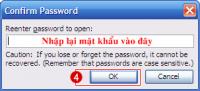 Bảo vệ nội dung văn bản word chống copy, print, và không cho mở file