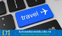 Cách định khoản vé máy bay với đại lý vé máy bay.