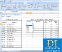 Cách tạo danh sách xổ xuống (Drop-down list) để chọn trong excel cùng Đức Minh