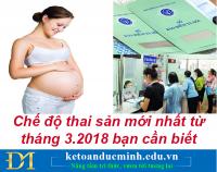 Chế độ thai sản mới nhất từ tháng 3.2018 bạn cần biết