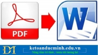 5 cách chuyển đổi từ  file PDF sang WORD