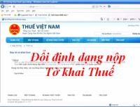 Kể từ 15/4/2015 sẽ ngừng tiếp nhận tờ khai thuế qua mạng bằng file PDF
