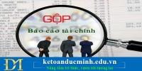 Mẫu công văn xin gộp Báo cáo tài chính - KTĐM