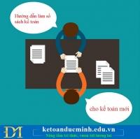 Hướng dẫn làm sổ sách kế toán cho kế toán mới