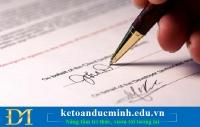 Những ai được ký thay trên hóa đơn, chứng từ kế toán? Kế toán Đức Minh.