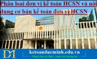 Phân loại đơn vị kế toán HCSN và nội dung cơ bản kế toán đơn vị HCSN