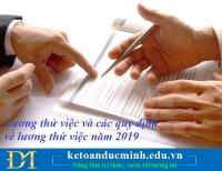 Lương thử việc và các quy định về lương thử việc năm 2019 – Kế toán Đức Minh.