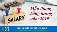 Mẫu thang bảng lương năm 2019 – Kế toán Đức Minh.