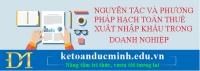 Nguyên tắc và phương pháp hạch toán thuế xuất - nhập khẩu trong doanh nghiệp (TT133)