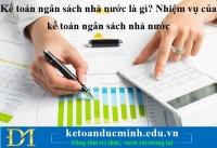 Kế toán ngân sách nhà nước là gì? Nhiệm vụ của kế toán ngân sách nhà nước – Kế toán Đức Minh