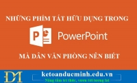 Những phím tắt hữu dụng trong PowerPoint mà dân văn phòng nên biết