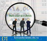 Thông tin phải thu, phải trả nội bộ trên Báo cáo tài chính như thế nào?