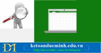 Cách sử dụng chức năng FIND và REPLACE trong Excel - Kế toán Đức Minh.