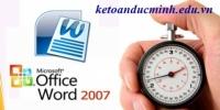 Cách tăng tốc độ xử lý làm việc hiệu quả trong MS word