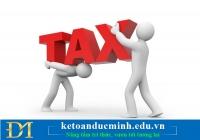 Thuế TNDN và thuế TNCN đối với DN mới thành lập - Kế toán Đức Minh.
