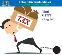 Doanh nghiệp khai thuế GTGT vãng lai trong trường hợp nào?- Kế toán Đức Minh.